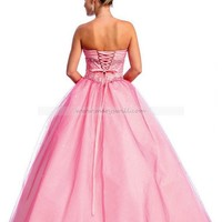 Bridal Party Dresses - Ball gown Sweetheart Floor-length Organza Bridesmaid Dresses / Evening Dresses / Prom Dresses @ adress81 - Prom Dresses - Event Dresses - Special Occasion Dresses - Affordable Wedding Dresses Manufacturer