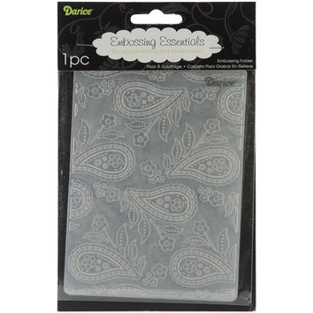 "Embossing Folder 4.25""""X5.75""""-Paisley Background"