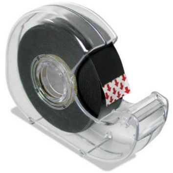 "Master Magnetics 07076 Super Thin Flexible Magnet Tape with Dispenser, 75"" x 26'"