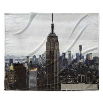 "Chelsea Victoria ""New York Stories"" Urban Travel Fleece Throw Blanket"