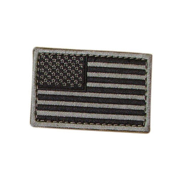 US Flag Patch Color- Foliage (6 Pack)