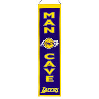 Los Angeles Lakers NBA Man Cave Vertical Banner (8 x 32)