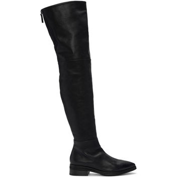 Black Listone Over The Knee Boots