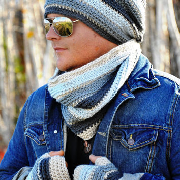 Johnny Slouch and Beanie Crochet Pattern pdf