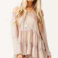 SHEER SILK BABYDOLL TOP