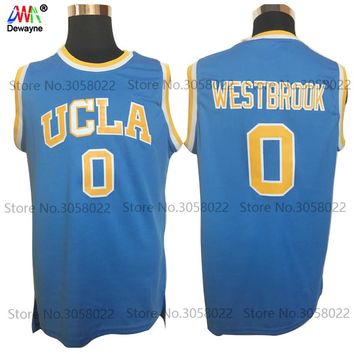 Basketball Jerseys #0 Russell Westbrook Jersey UCLA Bruins Retro Stitched Embroidery Shirt
