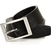 River Island MensBlack square buckle belt