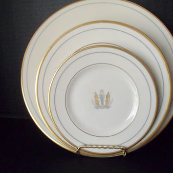 Syracuse China Dishes Governor Clinton 3 Pc. Place Settings Gatsby Art Deco 9 Place Settings Available