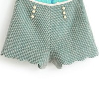 Scallop Braided Shorts