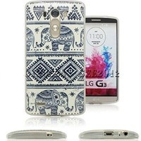 LG G3 Case, StarCity ® LG G3 Case [Elephant Pattern] Flexible TPU Case Skin Gel [Shock Absorbent] Protective Cover Case (for LG G3 Verizon, AT&T Sprint, T-mobile, Unlocked) (Elephant)