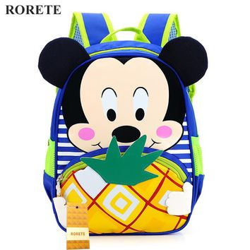 Cartoon mickey kids bag children backpacks kindergarten backpack kid school bags for boys and girls free shipping