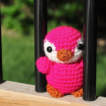 NEON Penguin Pal - Amigurumi Crochet Stuffed Toy