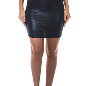 Sugar Pill High- Waisted Spandex Skirt in Black