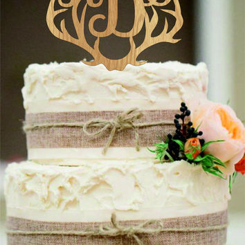 Wedding Cake Topper, Rustic Wedding Decor, Couple Monogram, Rustic Cake Topper, Country Wedding, Wooden Monogram Cake Toppers