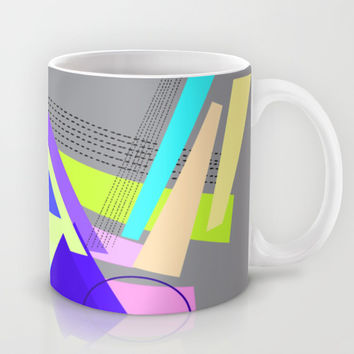 lines and triangles Mug by Haroulita