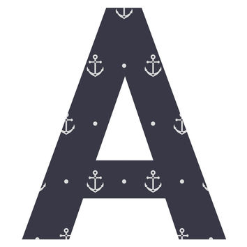 Stormy Anchors Patterned Letter Wall Decal