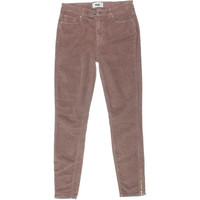 Paige Womens Stretch Flat Front Corduroy Pants