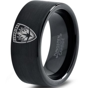 Guardians of the Galaxy Inspired Black Tungsten Ring