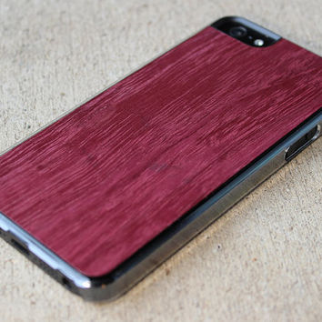 Purpleheart iPhone 5 Wood Clear Case  FREE by carvedproducts