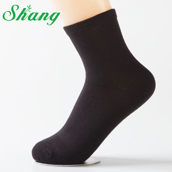 BAMBOO WATER SHANG Woman lovely bamboo fiber socks Flat-panel socks for women cute Candy pure color cotton casual socks LQ-6