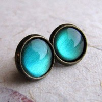 ShanaLogic.com - 100% Handmade  Independent Design! Absinthe Stud Earrings - Jewelry - Girls