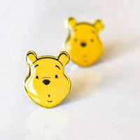 Stud earrings Winnie the Pooh ear posts