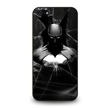 CRACKED OUT GLASS BATMAN THE DARK KNIGHT 3 iPhone 5 / 5S / SE Case