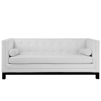 Imperial Sofa White Leather