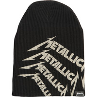 Metallica Men's Repeat Logo Beanie Black
