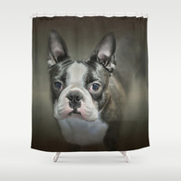The Face Of The Boston Shower Curtain by Jai Johnson