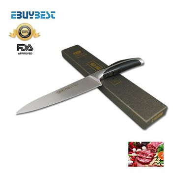 new top grade kitchen knives 8 inch stainless steel chef knife kitchen knife cleaver meat sharp knife Free shipping
