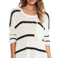 Free People Greenwich Village Pullover in Ivory