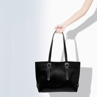 SHOPPER BAG WITH BUCKLES