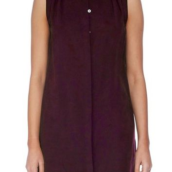 Michael Stars Sleeveless Band Collar Shirtdress | Nordstrom