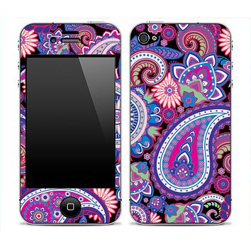 Bright Colored Paisley Print Skin for the iPhone 3gs, 4/4s, 5, 5s or 5c