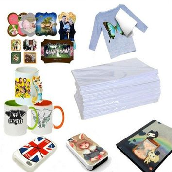 Magic Pack of 10 Funny A4 Size Inkjet Heat Tattoo Transfer Iron Paper for Light Fabrics T-Shirt (Color: White) (Size: 10PCS, Col