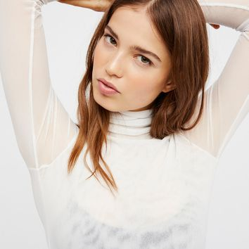 Free People Meshed Up Long Sleeve Top