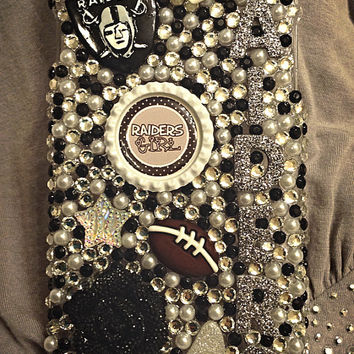 Oakland Raiders Crystal phone case, bling case, football sports case