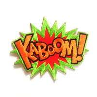 Kaboom Iron on Patch