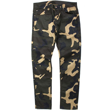 Ivar Waxed Denim Jeans Camo