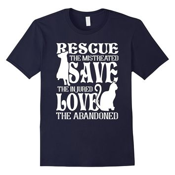 Animal Rescue Shirt Rescue Save Love Cute gift Dog Cat Lover