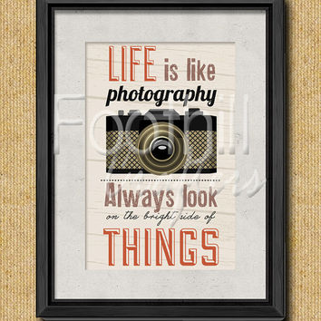 INSTANT DOWNLOAD - Vintage Photography Quote Digital Graphic - 8.5x11 - Fabric or Paper Projects - Print - Sign - Decor - Gift - Camera