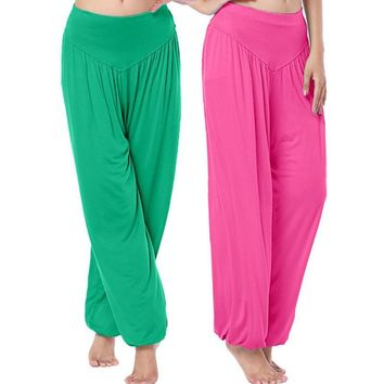 Women Bloomers Wide Belly Dancing Trouses Dance Pantalettes Boho Pants Loose Harem Trousers HO651417