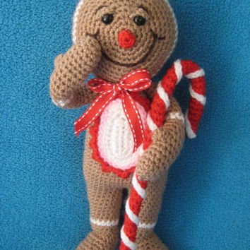 Amigurumi gingerbread man Christmas festive toy  doll crochet pattern pdf