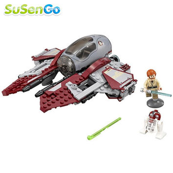 Star Wars Obi-Wans Jedi Interceptor Building Block sets Force Awakens Minifigures Kid Baby Toy Gift Poe Dameron Lego Compatible