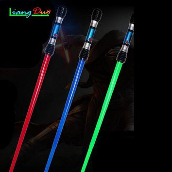 Star Wars Force Episode 1 2 3 4 5 Boy Toys Gift Sword Cosplay Props Flashing Lightsaber  Laser Sword Children's Outdoor Toys Music Luminous Telescopic AT_72_6