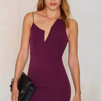 Nisha Mini Dress - Plum