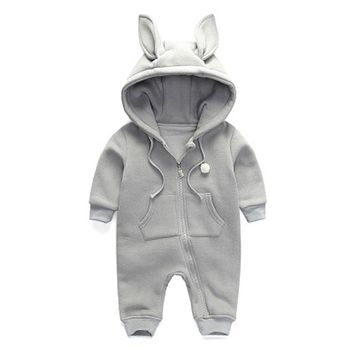 New Arrival Spring Autumn Baby Rompers Cute Cartoon Rabbit Infant Girl Boy Jumpsuits Kids Baby Outfits Clothes