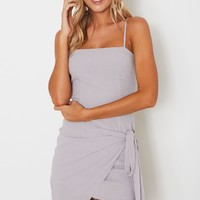 Fake Love Mini Dress Grey