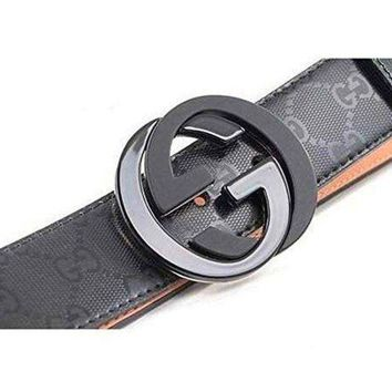 Gotopfashion Gucci Belt Classic Leather Vintage Pattern Big G Metal Buckle W&M Gift